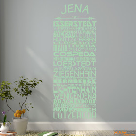 """Wandtattoo """"Stadtviertel Jena"""""""