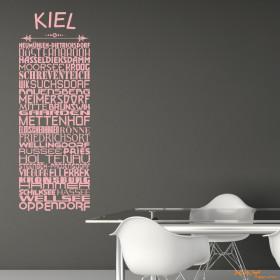 """Wandtattoo """"Stadtviertel Kiel"""""""