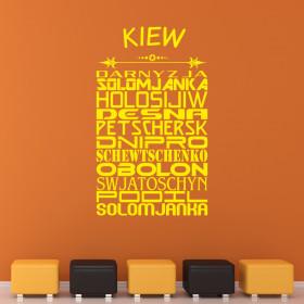 "Wandtattoo ""Stadtviertel Kiew"""