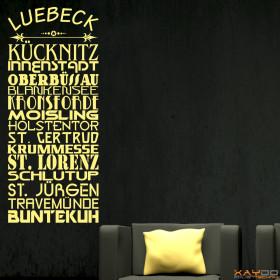 """Wandtattoo """"Stadtviertel Lübeck"""""""