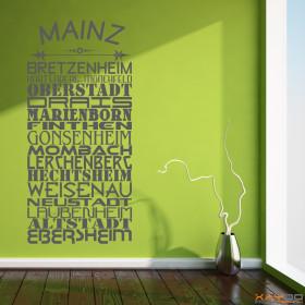 """Wandtattoo """"Stadtviertel Mainz"""""""