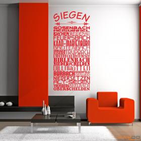 """Wandtattoo """"Stadtviertel Siegen"""""""