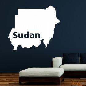 "Wandtattoo ""Sudan"""