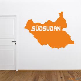 """Wandtattoo """"Südsudan"""""""