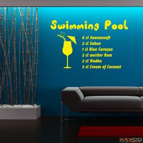 "Wandtattoo ""Swimming Pool"""