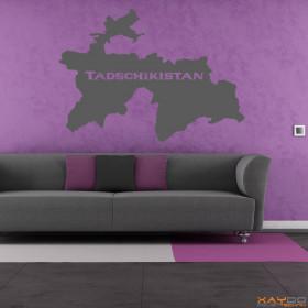 "Wandtattoo ""Tadschikistan"""
