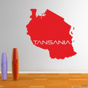 "Wandtattoo ""Tansania"""