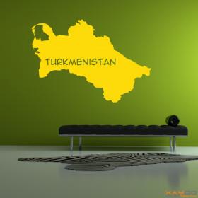 """Wandtattoo """"Turkmenistan"""""""