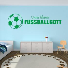 """Wandtattoo """"Unser kleiner Fußballgott"""""""