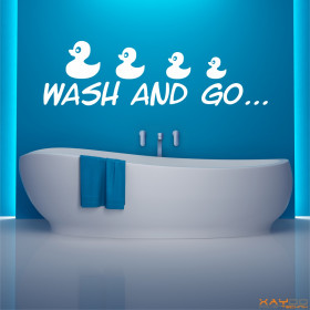"Wandtattoo ""Wash and go"""
