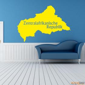 """Wandtattoo """"Zentralafrikanische Republik"""""""